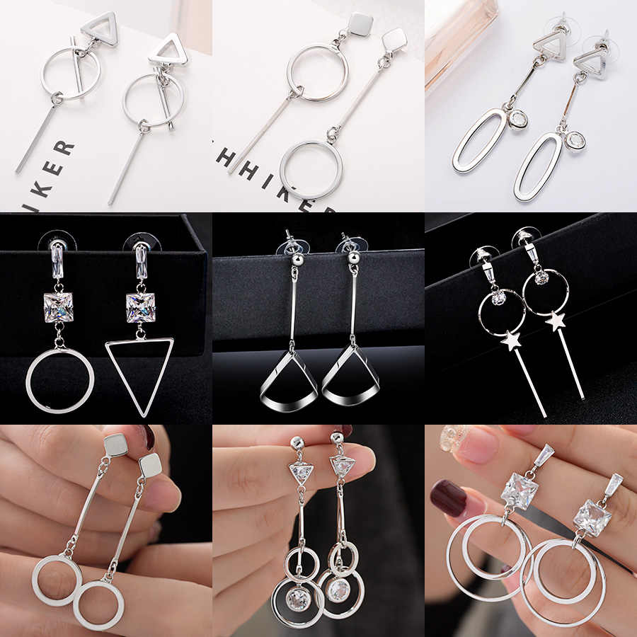 Fashion Statement Earrings 2019 Big Geometric earrings For Women Hanging Stud Earrings Drop Earing modern Jewelry