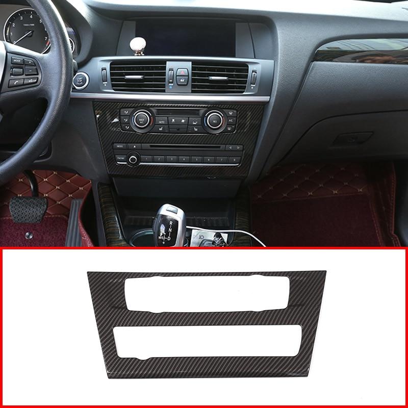 Carbon Fiber Air Condition CD Panel Cover Trim For Range Rover Sport 2014-2017