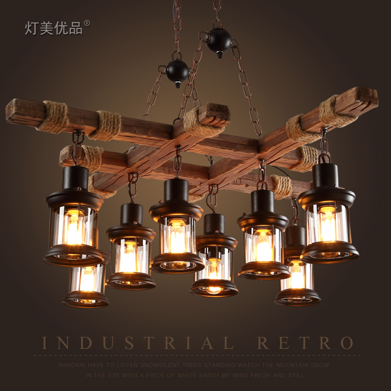 American retro industrial loft wood iron pendant light dining room bar kitchen Hanging Lamp Fixtures american edison loft style rope retro pendant light fixtures for dining room iron hanging lamp vintage industrial lighting