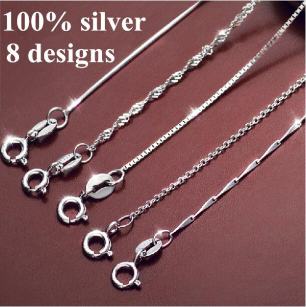 d26d79b4a8db 100% real 925 pure silver chain necklace for women