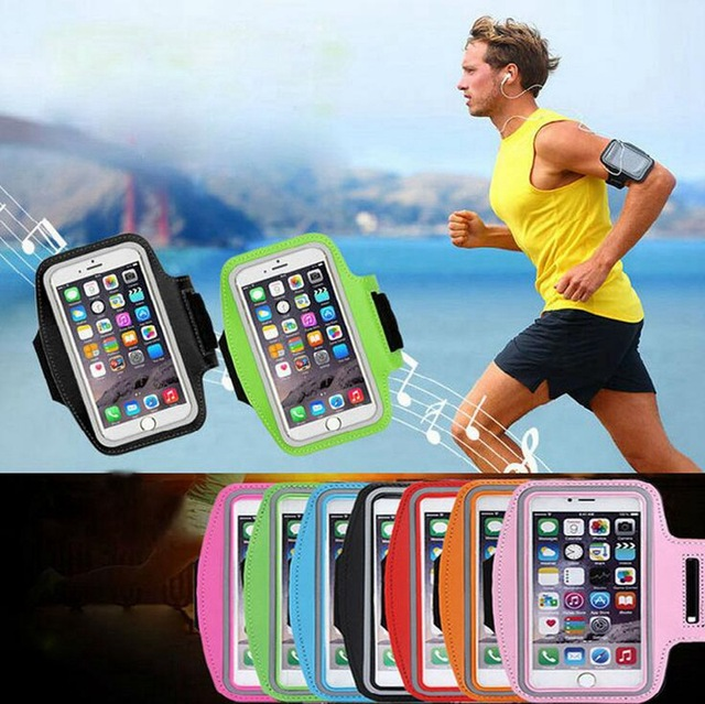 Gym Sport Armband Cases For Xiaomi iPhone 7 8 Plus Mobile Phone Armband Under 5.5 inch Phone Holder Bags Universal ArmBand Cover 2