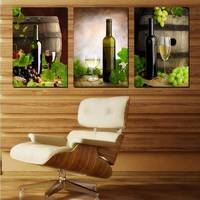 2015 Piece משלוח חינם חם למכור מודרני וול יין New3 משפחת אמנות ציורי הבית דקורטיבי אמנות תמונה על בד הדפסי