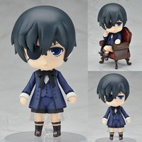 10CM Japanese Anime Figure Black Butler Ciel Phantomhive Master on the chair Ver. Parts Changeable