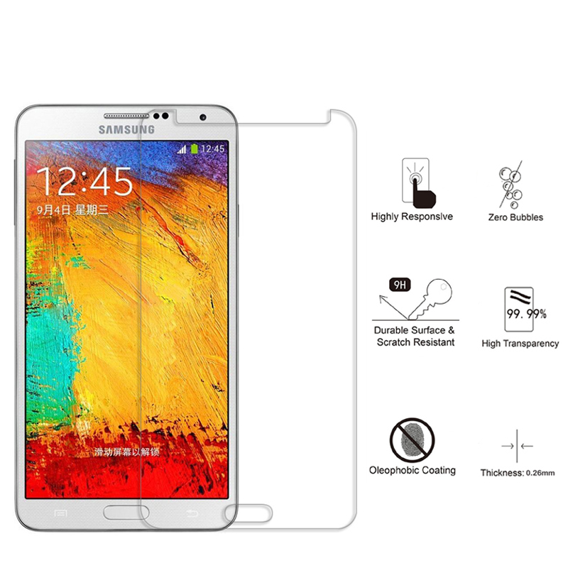 10PCSTemperedGlassforSamsungGalaxy S2S3MINIS4 High Transparent Screen Protector For Samsung NOTE 2 3 4 5 S5S6 S7 Protective film