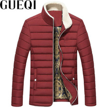 GUEQI ADD Fleece Men Winter Parkas Plus Size M-3XL Fur Collar Outerwear 2017 Man Warm Fashion Soft Casual Jackets