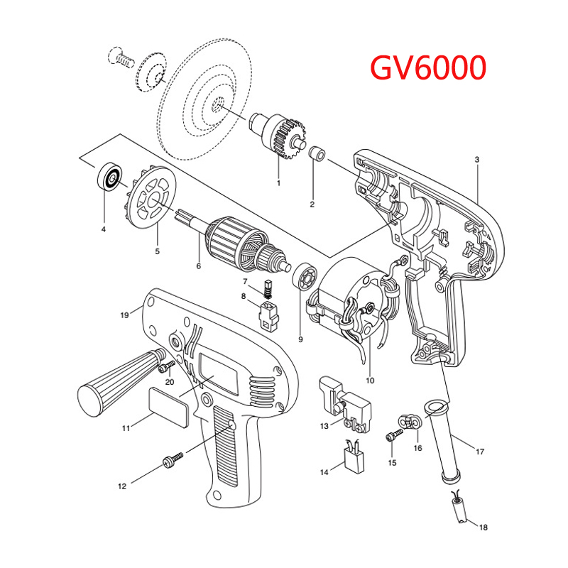 Ac 220 240v Armature Motor Rotor Replacement For Makita Gv6000