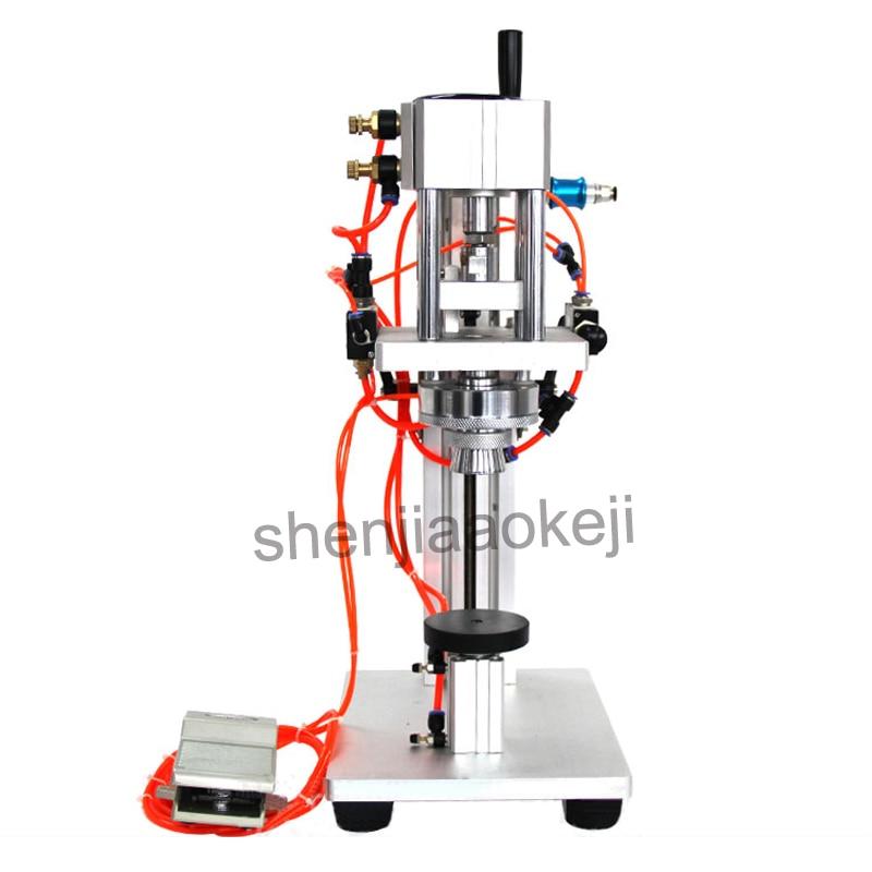Pneumatic Perfume Bottle Crimping Machine Aluminum alloy Capping Machine Lid Cap Locking Machine LTR 1 Capper 1PC
