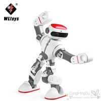 Origial WLtoys F8 Dobi Akıllı Insansı RC Robot Sesli Kumanda ile RC Robot Dans/Boya/Yoga/Söyle hikayeler RC Oyuncak Modeli
