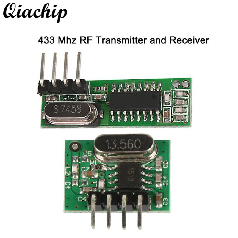 QIACHIP 433 MHZ Wireless Mini Low Power RF Relay Receiver + Transmitter Module Remote Control Switch For Arduino Uno Smart Home