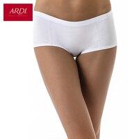 Women's Briefs with Mid Waist Underwear Panties Cotton White ARDI R2708-25