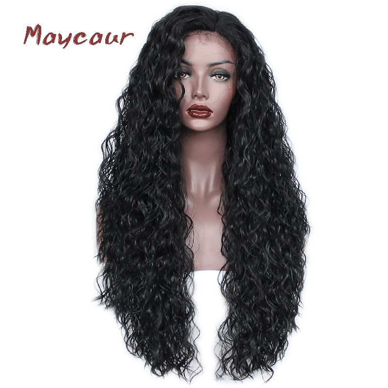 Loose Curly Synthetic Lace Front Wigs Free Part Long Fiber Hair Wigs For Women Heat Reaiatant 180 Density