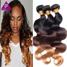 ombre brazilian hair body wave 3 bundles/lot 1b 4 27 ombre hair brazilian virgin rosa hair products brazilian hair weave bundles