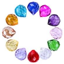H& D 12 шт. 20 мм цветной хрустальный шар Призма Suncatcher радужные Подвески производитель, Висячие кристаллы призмы для окон, для фэн-шуй