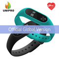 En stock! oficial global versión xiaomi mi banda 2 miband pulsera con pantalla oled táctil inteligente de ritmo cardíaco de fitness clave