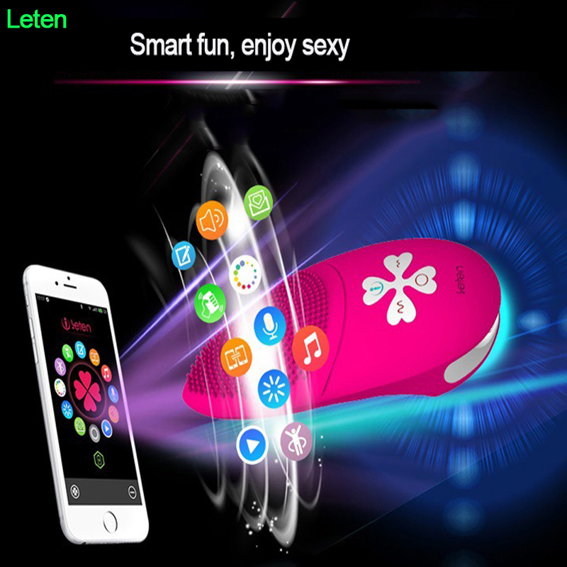 Leten Smart APP Control Tongue Vibrator Silicone Clitoris Stimulator 10 Mode sex Products Masturbator Adult Sex Toys for woman leten smart app control bluetooth connect usb charge 10 mode waterproof silicone g spot vibrators adult sex products for women