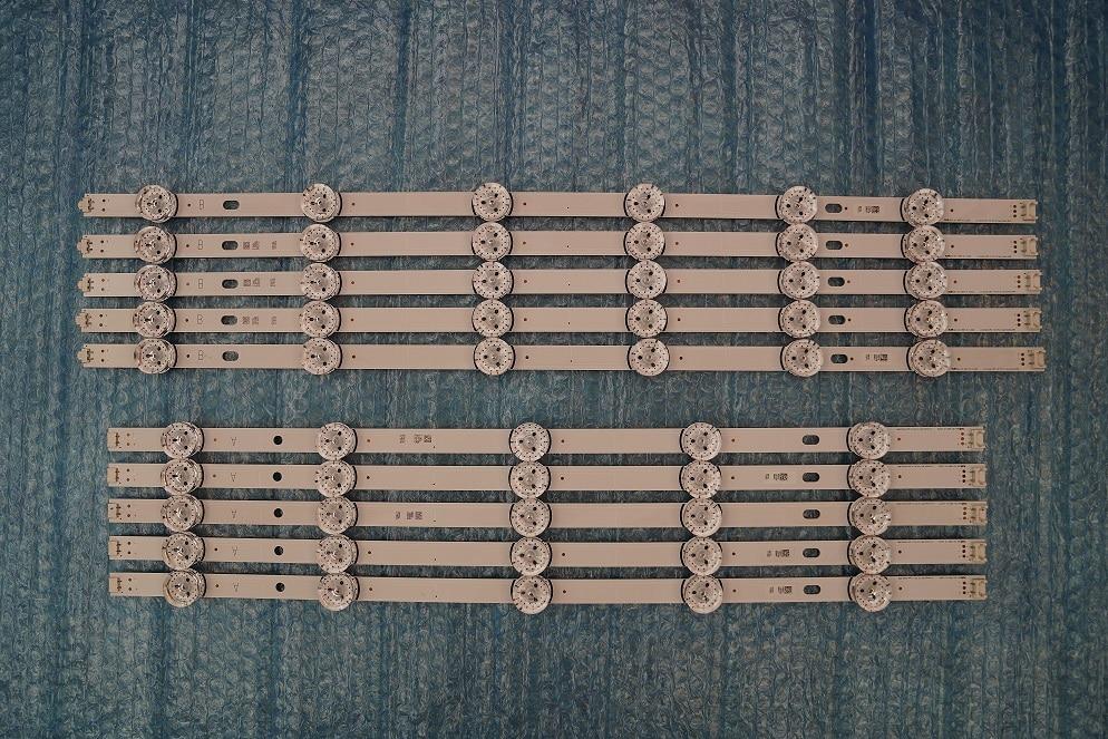 (New Original Kit)10 PCS LED Backlight Strip For LG 55LF5950 Innotek DRT 3.0 55 Inch A B 6916L-1730A 1731A 6916L-1990A 1991A