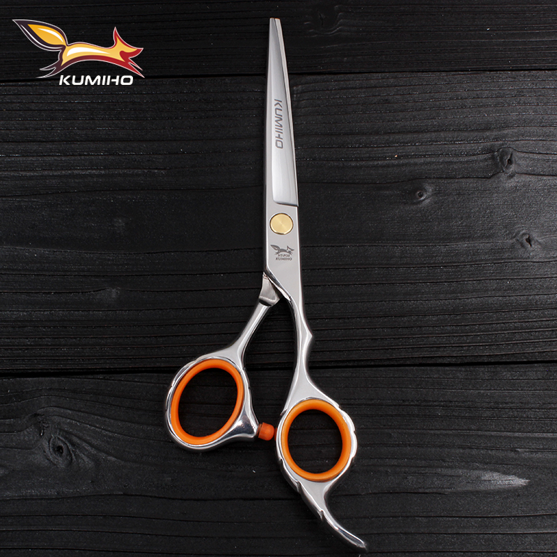 KUMIHO envío gratis tijeras de pelo con cuchilla serrada micro tijeras de peluquería profesional de alta calidad 6 pulgadas 9cr13