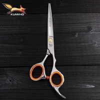 Tijeras de pelo KUMIHO envío gratis con hoja micro dentada tijeras de peluquería profesionales de alta calidad 6 pulgadas 9cr13