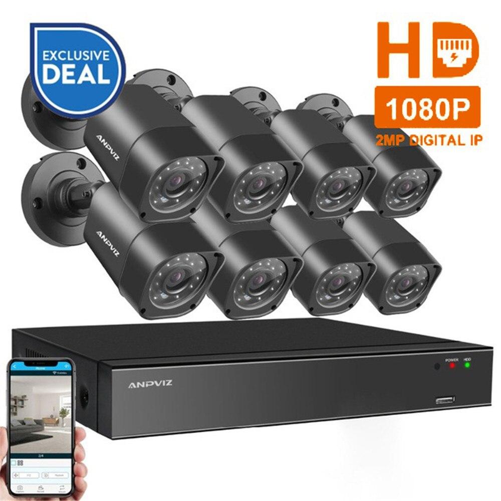 8CH 1080 p HDMI POE NVR Kit CCTV Caméra Système 2MP Extérieure de Sécurité IP Caméra P2P Vidéo Surveillance Système Ensemble 2 tb HDD