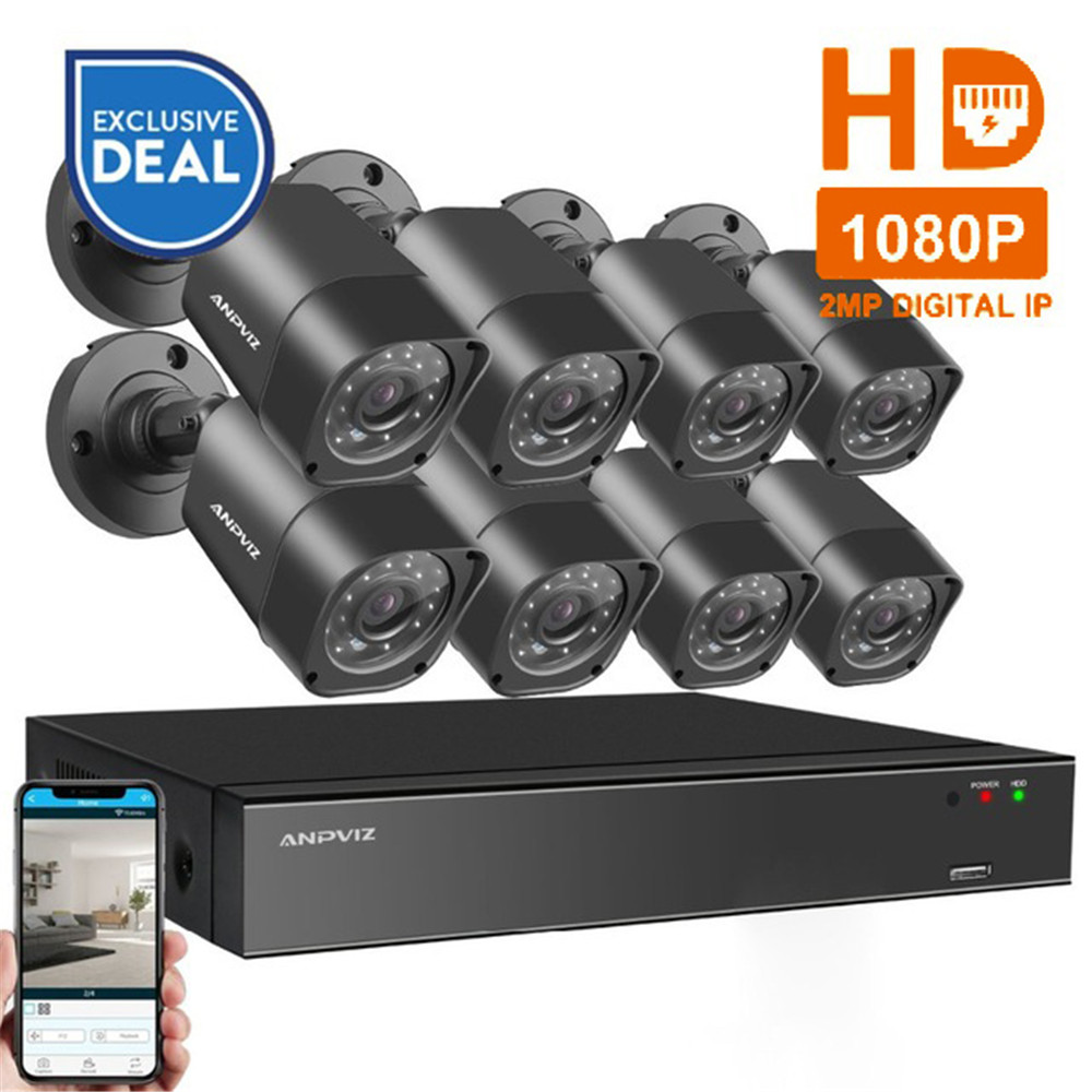 8CH 1080P HDMI POE NVR Kit CCTV Camera System 2MP Outdoor Security IP Camera P2P Video Surveillance System Set 2TB HDD майка print bar винсент и джулс