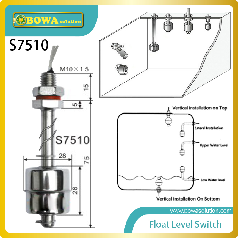 Home Appliances Gas Water Heater Parts Discreet Float Level Switches Hermetically Sealed Reed Switches Are Actuated By Magnets Permanently Bonded Inside The Float Arm Yet Not Vulgar