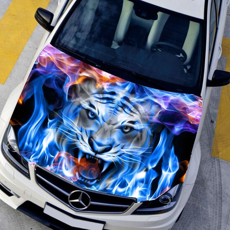 Aliexpress Com Buy Diy Car Styling Hd Inkjet Blue Flame
