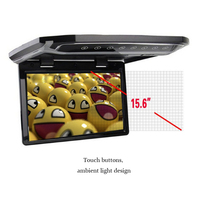 Auto Large Screen 15.6 Inch HD Over View Monitor LCD Monitor Roof Mount Car Ceiling Flip Overhead Multimedia Roof Monitor
