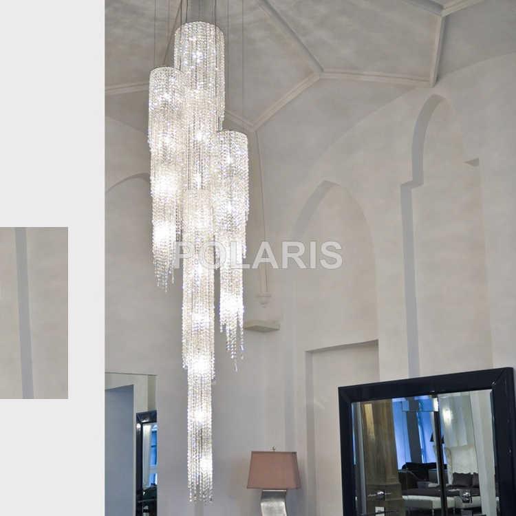 Современный роскошный светодиодный привести Хрустальная люстра освещения большой подвесные светильники ручек на выбор, хрустальные лампы для Вилла Обеденная декорация для дома и отеля