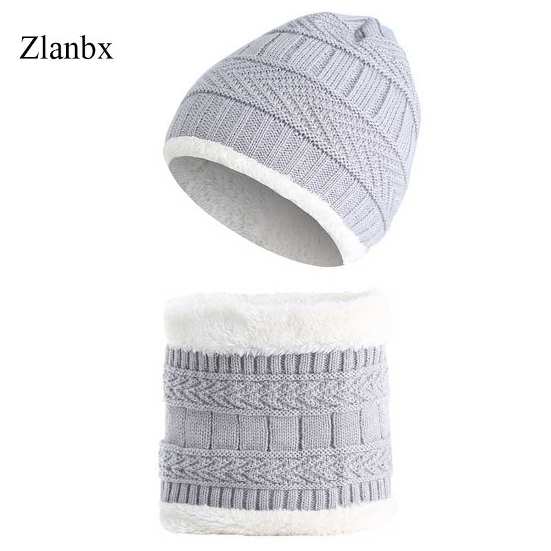Boy's Hats Kids Beanie Winter Hat Ring Scarf Set Neck Warmer Woolen Ski Cap Ring Scarves Boys Girls Knitted Skullies Benaies Velvet Scarves Apparel Accessories