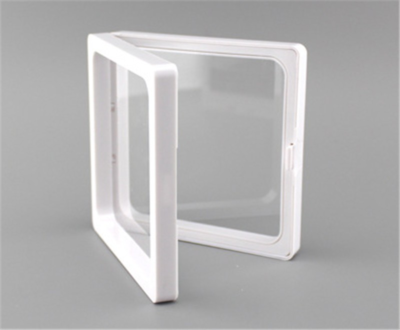50 pcs 7x7x2cm,clear plastic membranes photo frame display/ collection box/jewelry box  ourself mold-in Storage Boxes & Bins from Home & Garden    1