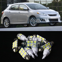 Car Styling Free Shipping 10 7x White LED Lights Interior Package Kit For Toyota Matrix 2003