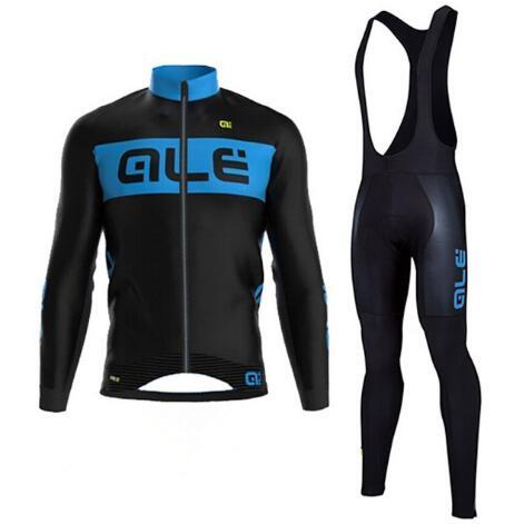ALE 2017 Cycling Set Autumn Thin Long Sleeves Cycling Jerseys Clothing Kits Bike/Men Bicycle Wear Cycling equipment
