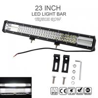 7D 23 Inch 540W Car LED White Worklight Bar Triple Row Spot Flood Combo Offroad Light Driving Lamp for Truck SUV 4X4 4WD ATV