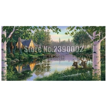 Paradise Bay DIY Diamond painting Cabins,Cottages,Houses Full Diamond embroidery Lakes & Rivers Cross Stitch Rhinestone Mosaic cabins