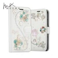 Rhinestone Case For Xiaomi Mi Max 2 Max2 Glitter Diamond Leather Cover Flip Wallet Crystal Flowers
