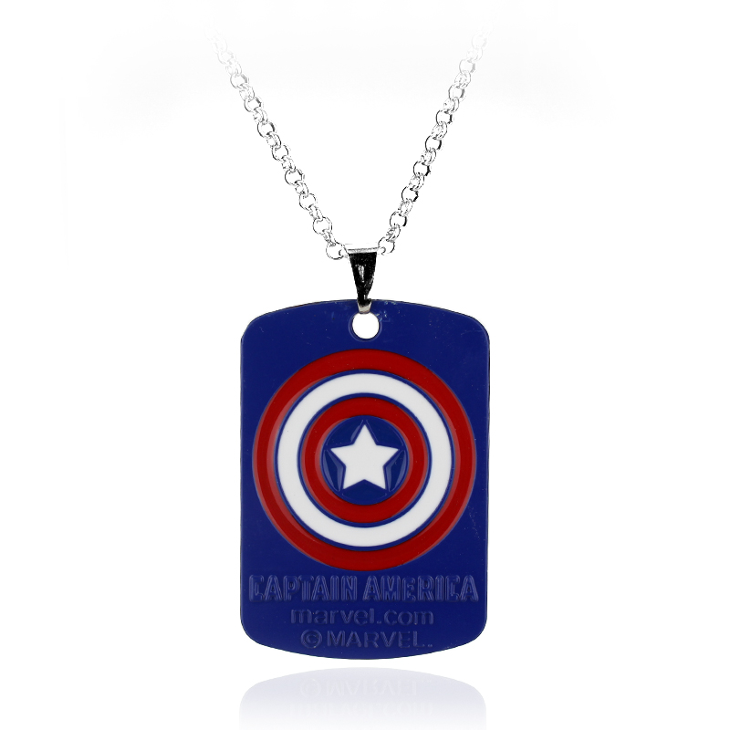 4 colors marvel avengers captain america shield dog tag pendant