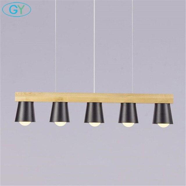 Nieuwe luster hout hanglamp stijl loft Zwart wit keuken eiland ...