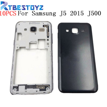 10PCS/Lot Middle Frame Phone Housing Cover For Samsung Galaxy J5 2015 J500 J500F J500H J500M J500FN With Rear Battery Door