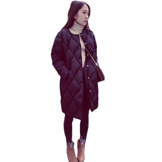 2016 Моды Хлопка-ватник Новый Зимний Средней длины Вниз Хлопок Парки Плюс Размер Пальто Женские Тонкие Дамы куртки И Пальто