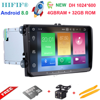 HIFIF 8 Core 2 Din Android 8 0 9 Car Radio Player For VW GOLF 5