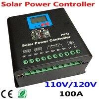 100a 태양 광 충전 컨트롤러  110 v 또는 120 v 배터리 레귤레이터 100a 12kw pv 패널 모듈  led 및 lcd 디스플레이  듀얼 팬 냉각