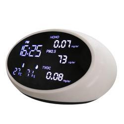 5 w 1 cyfrowy powietrza jakość detektor PM2.5 analizatory gazu HCHO TVOC miernik testowy Tester Monitor z akumulatorem w Analizatory gazu od Narzędzia na