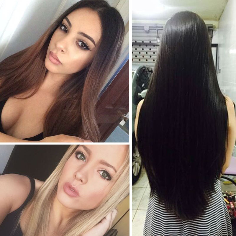 Hot Sale Aosi Wig Synthetic Straight One Piece Long Straight Natural