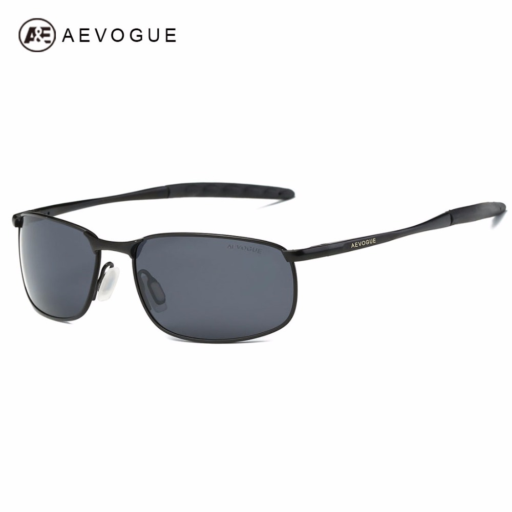 AEVOGUE Polarizd Sunglasses For Men Rectangle Marco de metal Diseñador de la marca Shades Moda Gafas de sol AE0535
