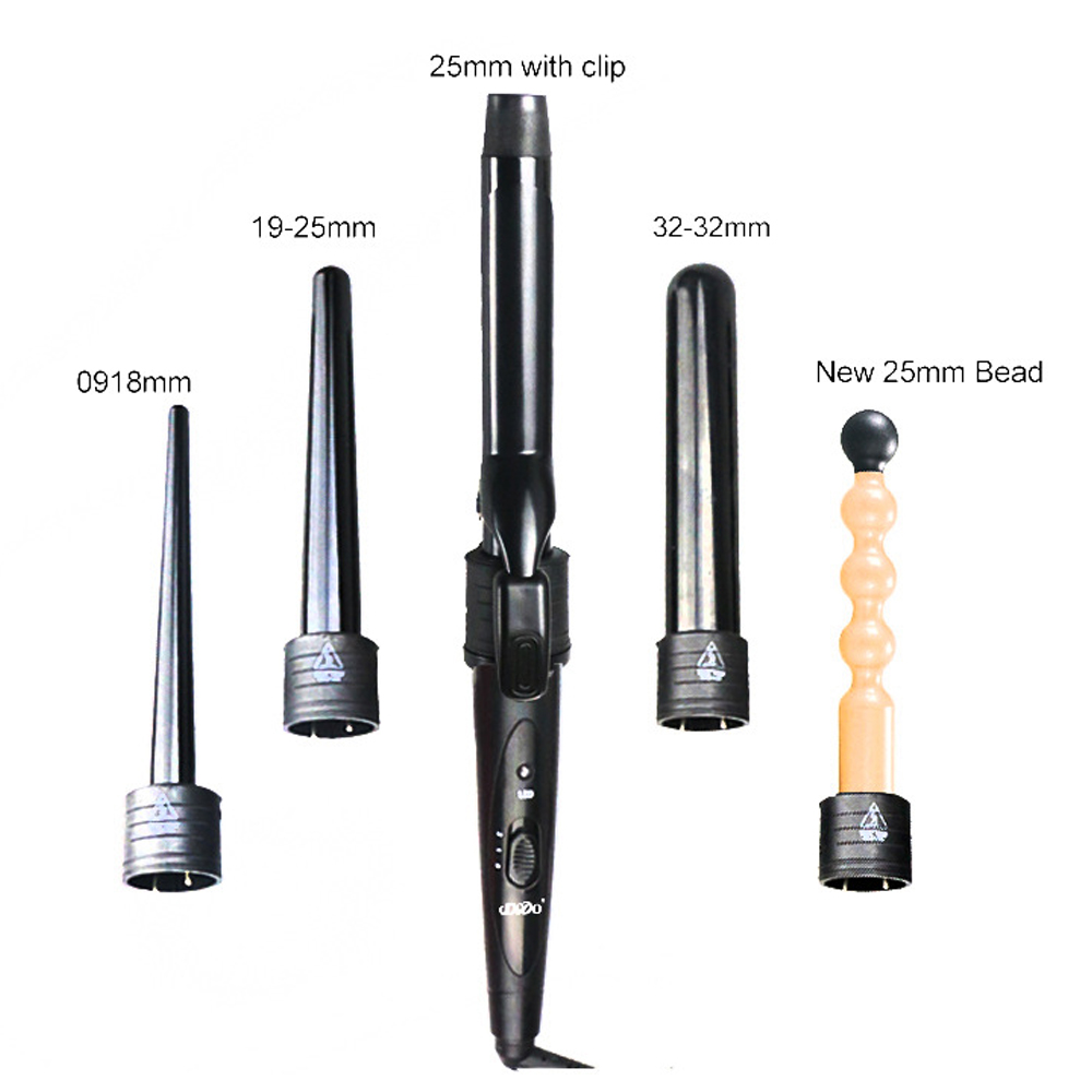 New 5 Part Hair Curling Iron Wand Set with 5 Size 09-32mm Curling Wand Rollers Ceramic Hair Curler Multi-size Roller With GloveNew 5 Part Hair Curling Iron Wand Set with 5 Size 09-32mm Curling Wand Rollers Ceramic Hair Curler Multi-size Roller With Glove
