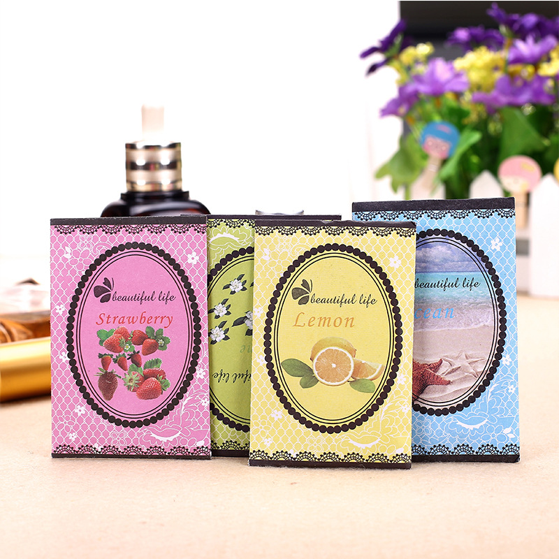 10Pcs Pack Aromatherapy Natural Smell Incense Wardrobe Sachet Air Fresh Refreshing Scent Bag Perfume Vanilla Lavender