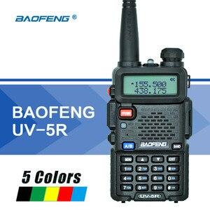 Image 1 - Baofeng UV 5R Walkie Talkie Çift Bant UV5R Taşınabilir CB Radyo Istasyonu El UV 5R UHF VHF Iki yönlü Radyo avcılık Amatör Radyo