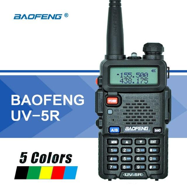 Baofeng UV 5R Walkie Talkie Çift Bant UV5R Taşınabilir CB Radyo Istasyonu El UV 5R UHF VHF Iki yönlü Radyo avcılık Amatör Radyo