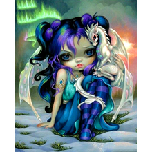 5D DIY Diamond Painting Full Square Drill Girl and dragon Embroidery Cross Stitch gift Home Decor Gift H782