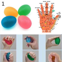Win Hand Grip Silicone Egg Powerball Forearm Trainer Finger Hand Gripper Exerciser Hand Expander Massage Stress Fitness Equipment opportunity